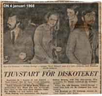 Leif och Torsten med vänner – De första Internationella svenska Discothequen i pressklipp